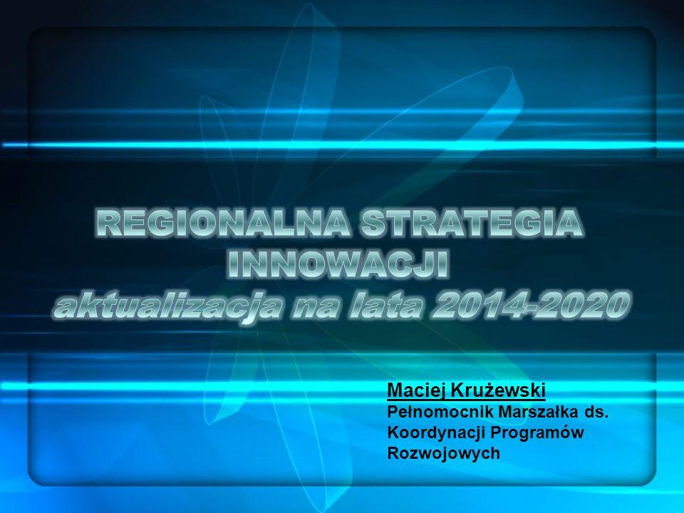 Maciej Krużewski Pełnomocnik Marszałka ds. Koordynacji Programów Rozwojowych