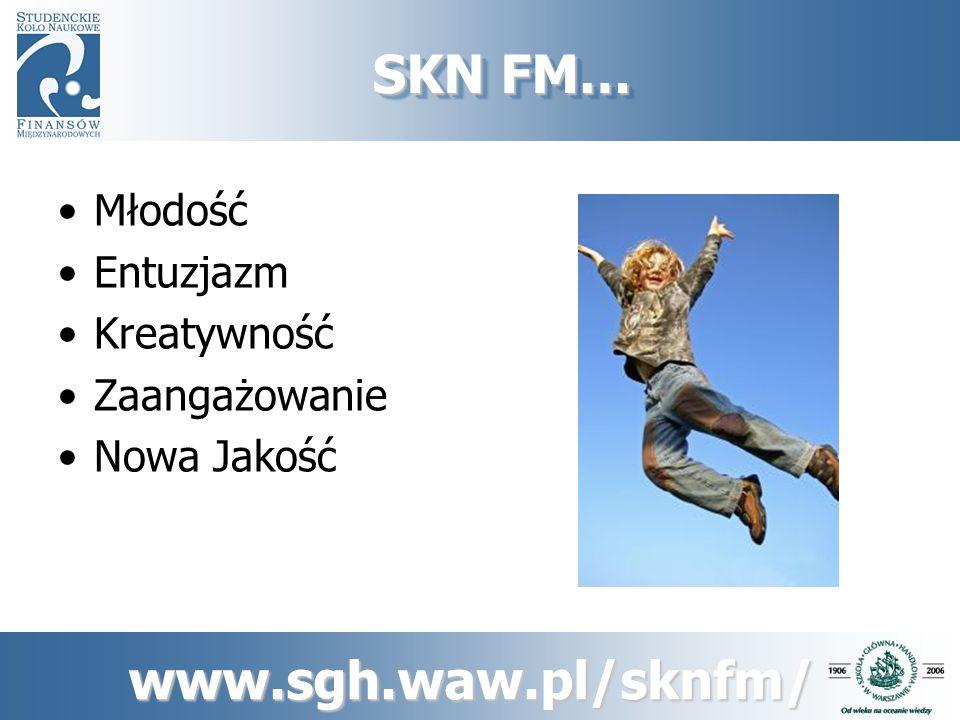 www.sgh.waw.pl/sknfm/ SKN FM… Teoria i Praktyka Wszechstronny Rozwój Global Thinking