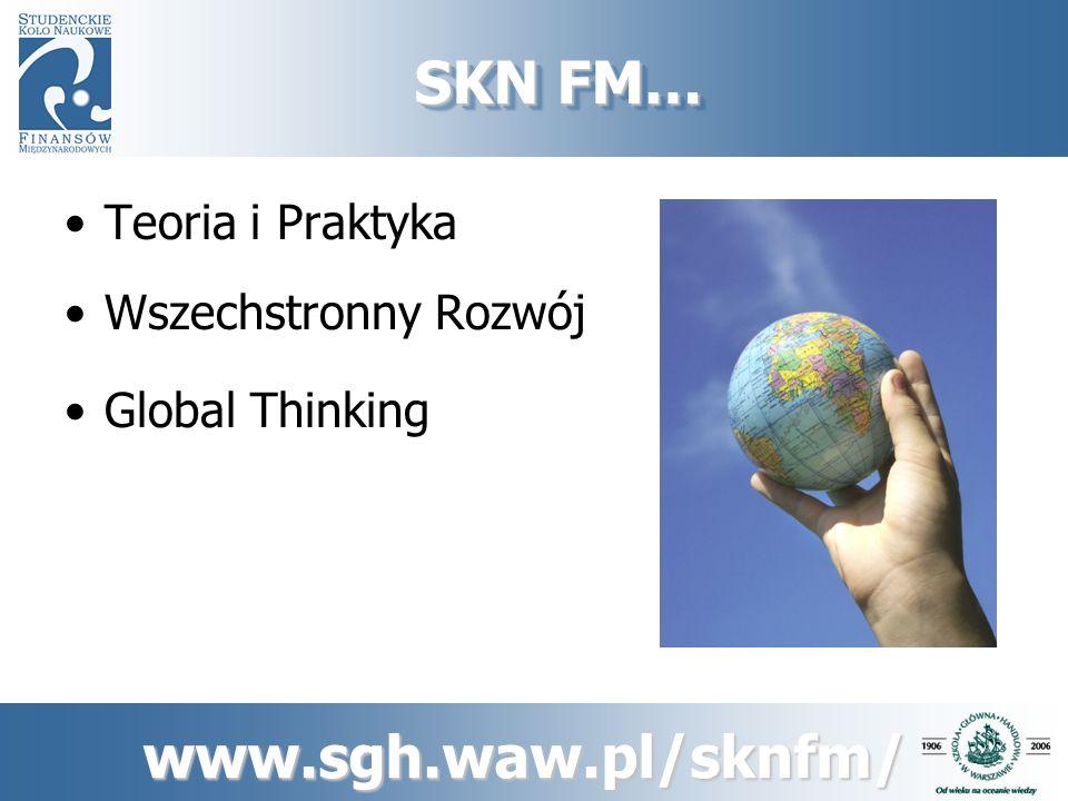 www.sgh.waw.pl/sknfm/ Nasze projekty… …rozwijają nasze zainteresowania i pasje