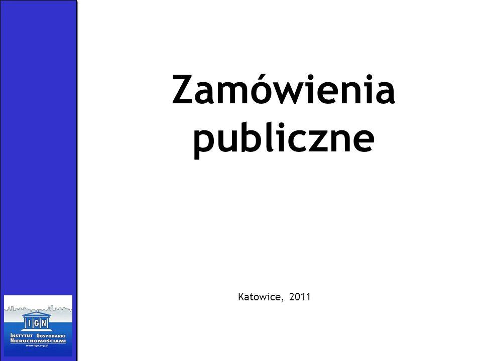 Zamówienia publiczne Katowice, 2011