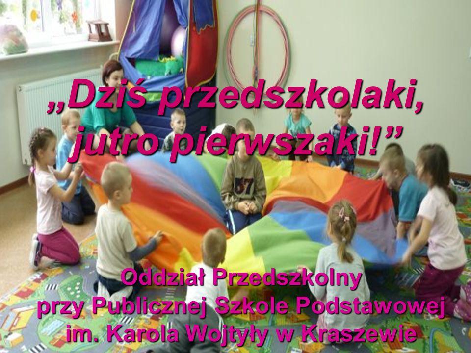 To my, wesołe przedszkolaki z Kraszewa Nasza grupa liczy 20 osób: * siedem dziewczynek, * trzynastu chłopców i pani Agnieszka.