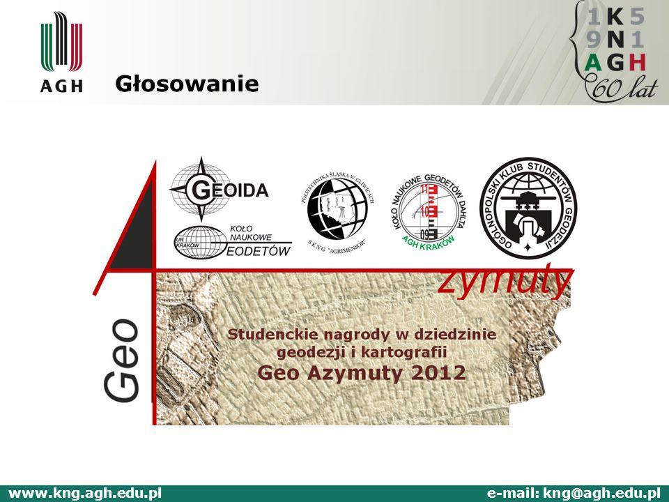 Głosowanie www.kng.agh.edu.pl e-mail: kng@agh.edu.pl
