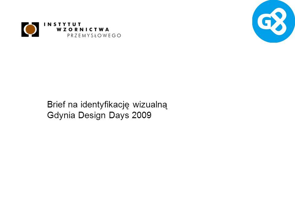 Brief na identyfikację wizualną Gdynia Design Days 2009