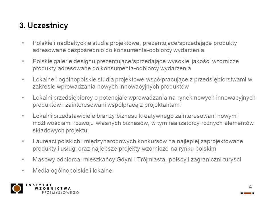 4 3. Uczestnicy Polskie i nadbałtyckie studia projektowe, prezentujące/sprzedające produkty adresowane bezpośrednio do konsumenta-odbiorcy wydarzenia