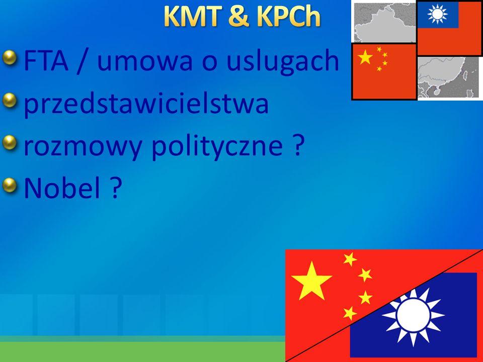 FTA / umowa o uslugach przedstawicielstwa rozmowy polityczne ? Nobel ?