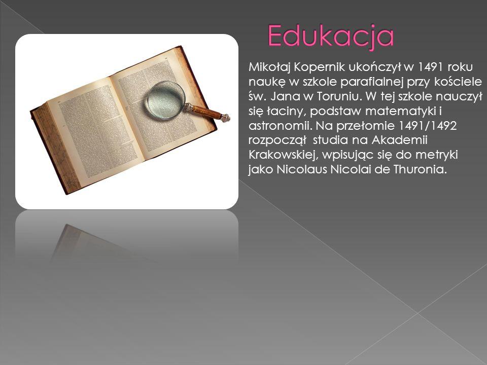 Czasy jego krakowskich studiów przypadły na okres świetności tzw.