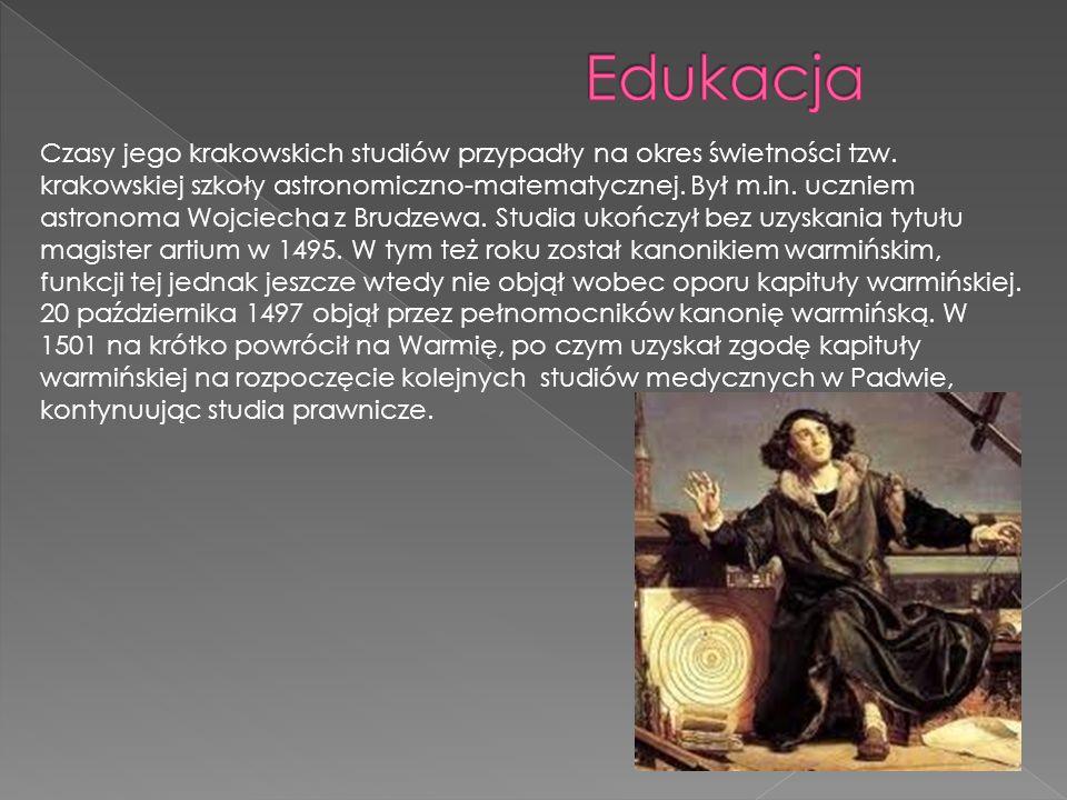 Dzięki staraniom wuja Łukasza w 1496 roku rozpoczął studia prawnicze w Bolonii, wpisując się w styczniu 1497 do albumu nacji niemieckiej bolońskiego Uniwersytetu Jurystów.