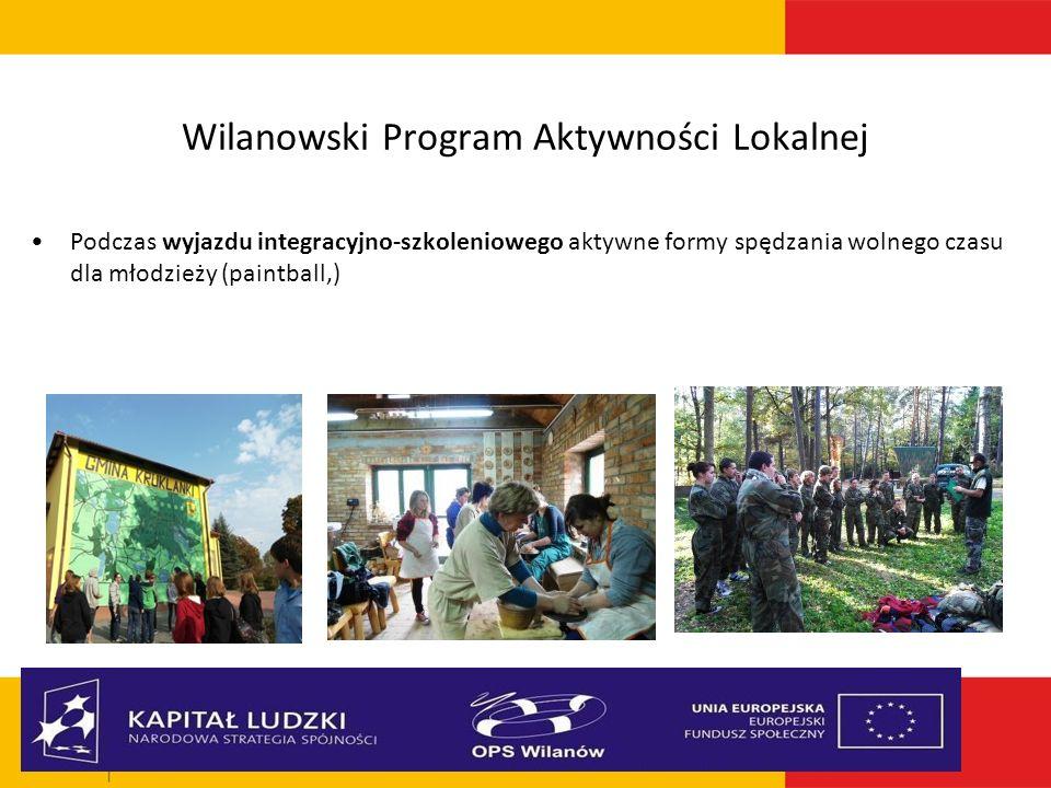 Wilanowski Program Aktywności Lokalnej Podczas wyjazdu integracyjno-szkoleniowego aktywne formy spędzania wolnego czasu dla młodzieży (paintball,)