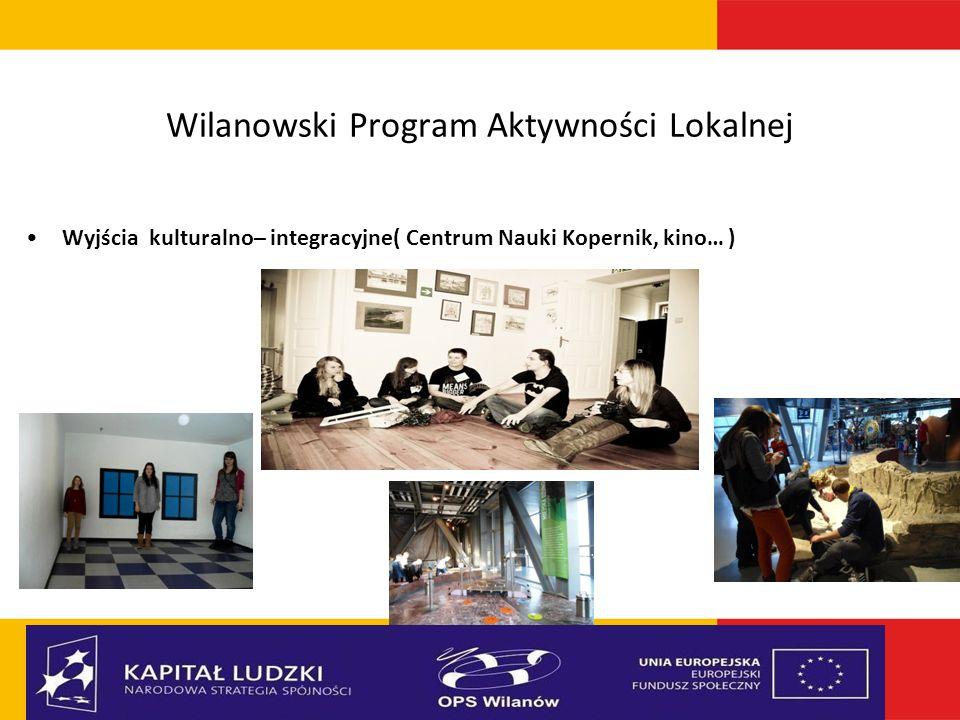 Wilanowski Program Aktywności Lokalnej Wyjścia kulturalno– integracyjne( Centrum Nauki Kopernik, kino… )