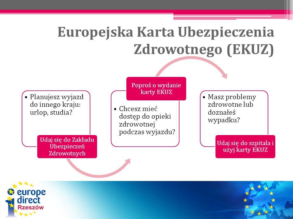 Europejska Karta Ubezpieczenia Zdrowotnego (EKUZ) Planujesz wyjazd do innego kraju: urlop, studia? Udaj się do Zakładu Ubezpieczeń Zdrowotnych Chcesz