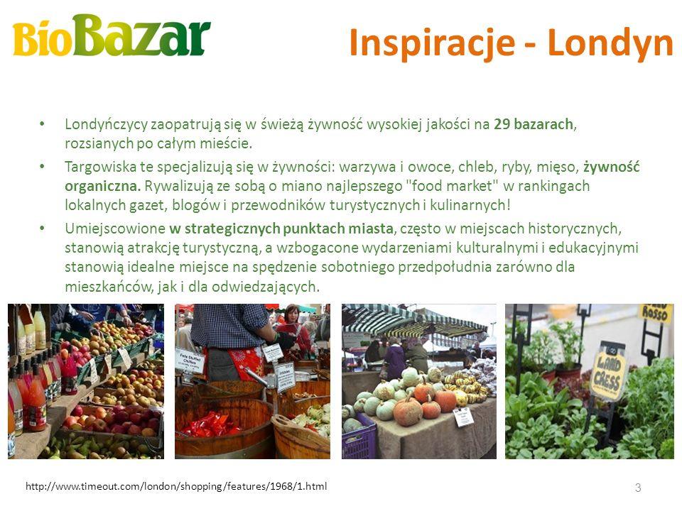 Inspiracje - Londyn Londyńczycy zaopatrują się w świeżą żywność wysokiej jakości na 29 bazarach, rozsianych po całym mieście. Targowiska te specjalizu