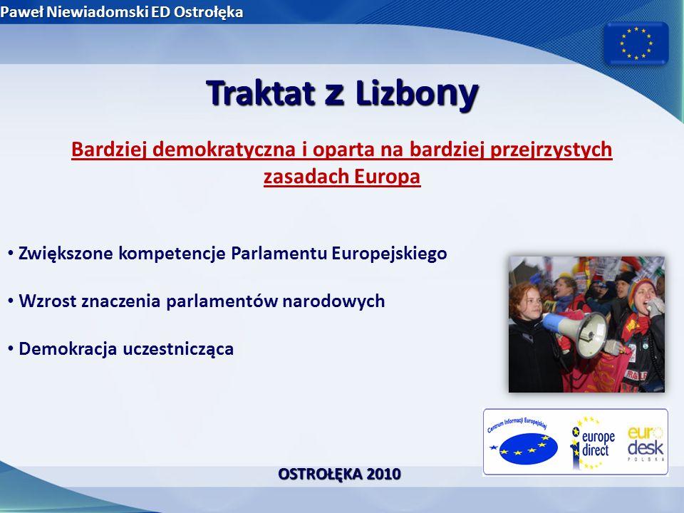 Traktat z Lizbo ny Nowoczesne i skuteczne instytucje Parlament Europejski Parlament Europejski Rada Europejska Rada Europejska Przewodniczący Rady Europejskiej Przewodniczący Rady Europejskiej Rada Unii Europejskiej Rada Unii Europejskiej Komisja Europejska Komisja Europejska Wysoki przedstawiciel Unii ds.