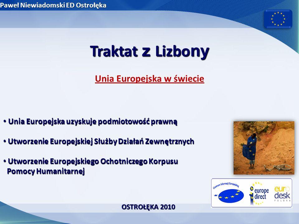 Traktat z Lizbo ny Sprawiedliwość, wolność i bezpieczeństwo Likwidacja tzw.