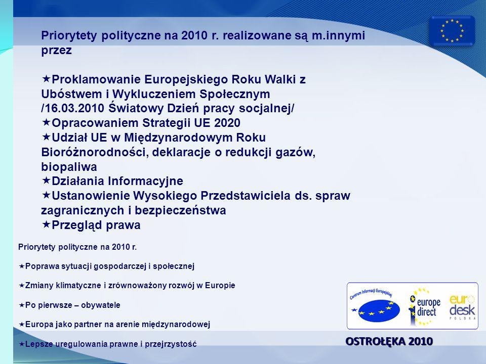 OSTROŁĘKA 2010 Ogólne ramy dotyczące zasobów ludzkich i finansowych na 2010 r.