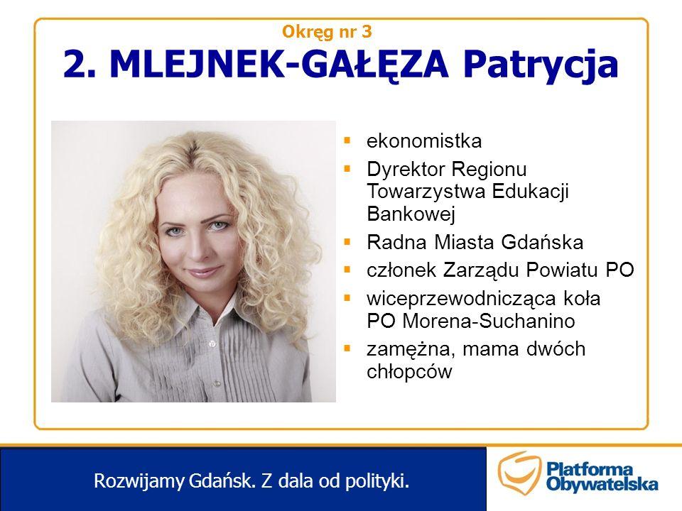 2.MLEJNEK-GAŁĘZA Patrycja Rozwijamy Gdańsk. Z dala od polityki.