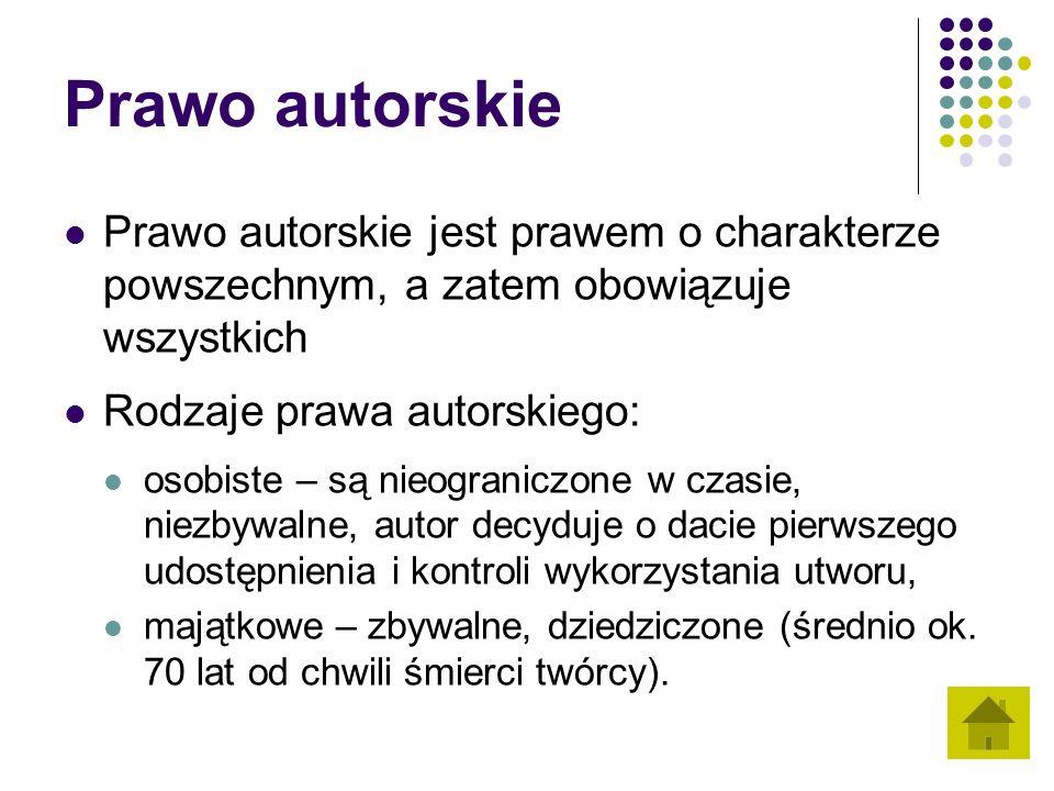 Rozdział 1 Przedmiot prawa autorskiego Art.1. 1.