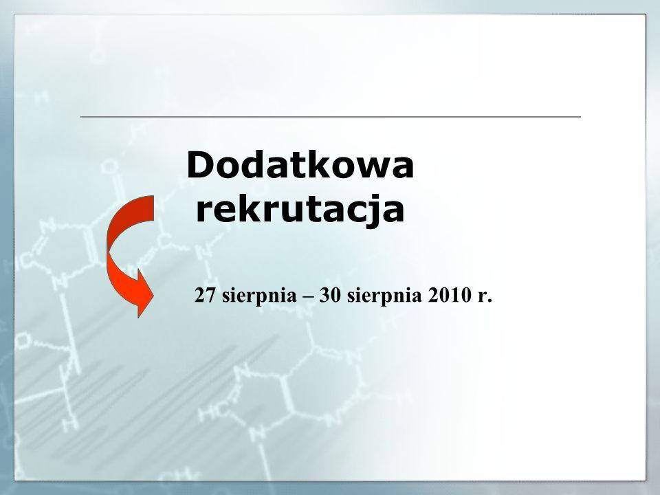 MAKSYMALNA LICZBA PUNKTÓW REKRUTACYJNYCH 200 pkt.