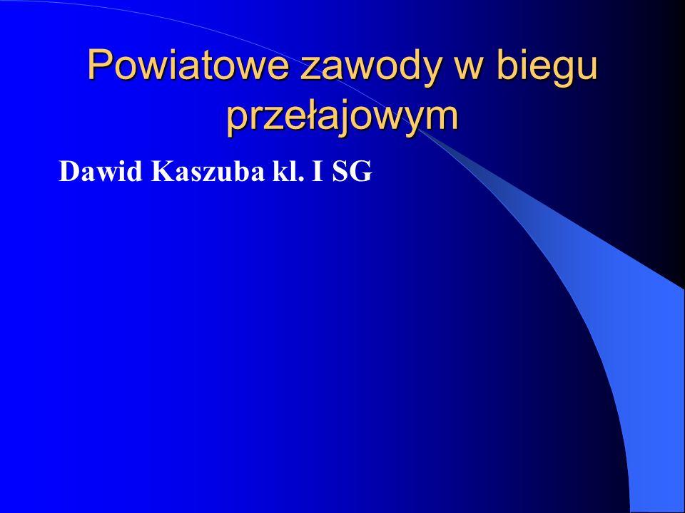 Powiatowe zawody w biegu przełajowym Dawid Kaszuba kl. I SG