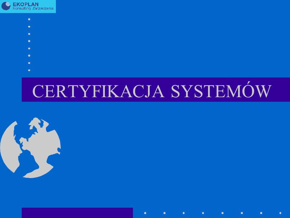 CERTYFIKACJA SYSTEMÓW