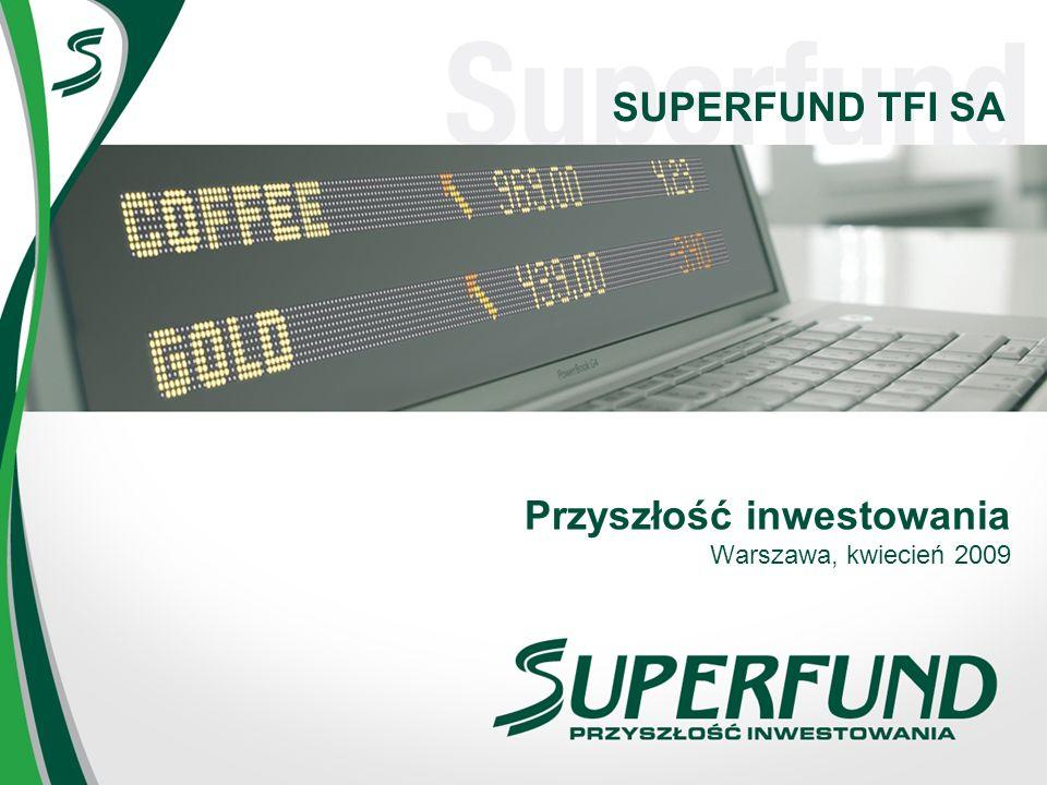 SUPERFUND TFI SA Przyszłość inwestowania Warszawa, kwiecień 2009