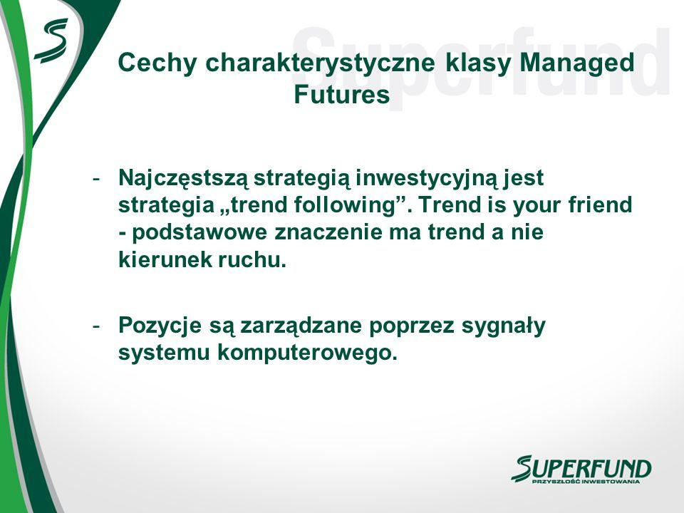 Cechy charakterystyczne klasy Managed Futures -Najczęstszą strategią inwestycyjną jest strategia trend following. Trend is your friend - podstawowe zn