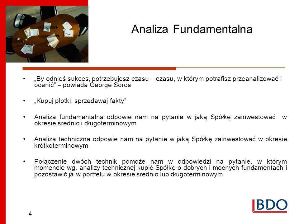 15 Analiza Fundamentalna na przykładzie MCI Management S.A Branża w której działa Spółka Sektor Venture Capital/Private Equity Wartość inwestycji funduszy VC/PE w Europie Środkowo-Wschodniej w 2005 roku wynosiła 508 mln euro a w Polsce 107,87 mln euro.