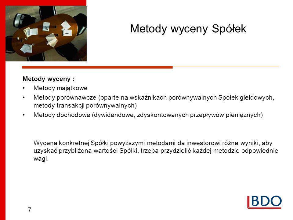 18 Analiza Fundamentalna na przykładzie MCI Management S.A Stabilny akcjonariat NazwaLiczba akcji% posiadanych głosów Czechowicz Tomasz łącznie z Czechowicz Venture Sp.