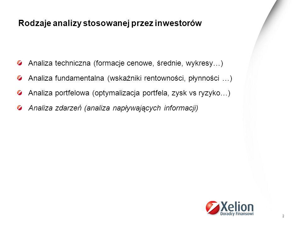 33 Analiza zdarzeń na rynkach akcji… Wnioski z przeprowadzonych rozważań i badań empirycznych: 6.