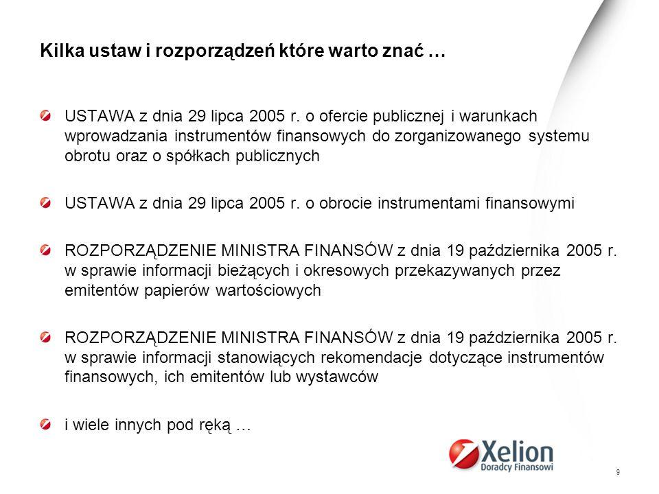 30 Źródła informacji - system Emitent http://demo.e-pap.pl/espi http://demo.e-pap.pl/espi