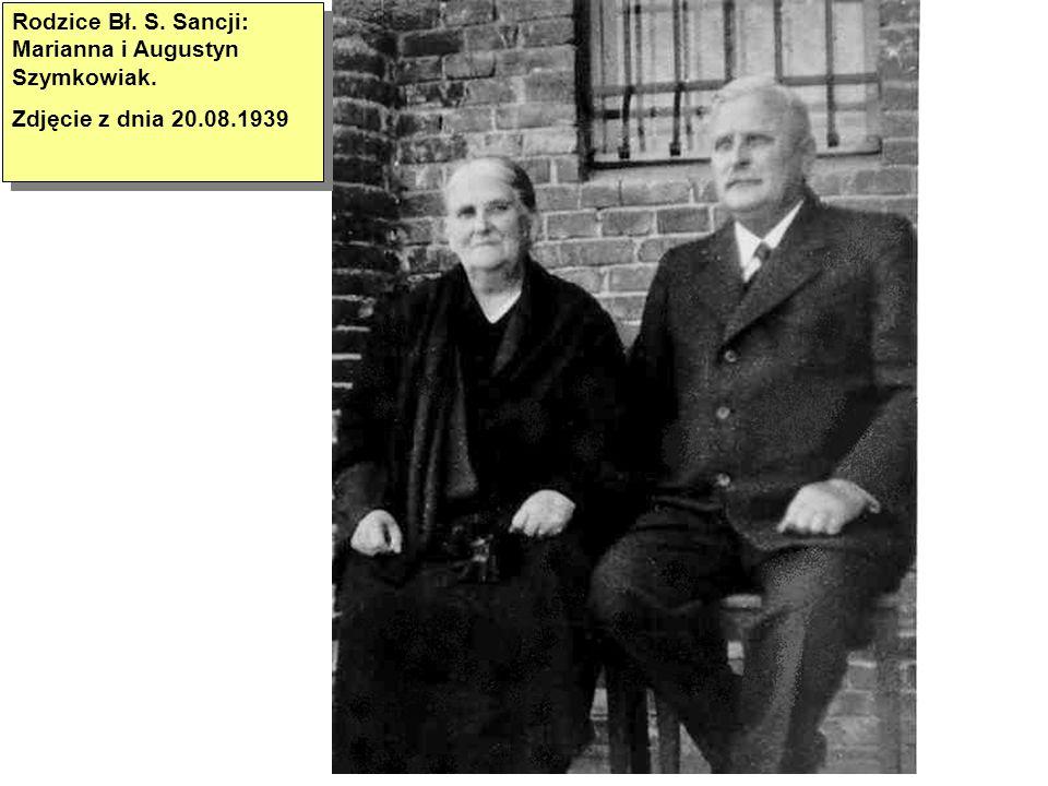 Bł.S. Sancja po przyjęciu do postulatu Sióstr Serafitek Zdjęcie z 1936 roku Bł.