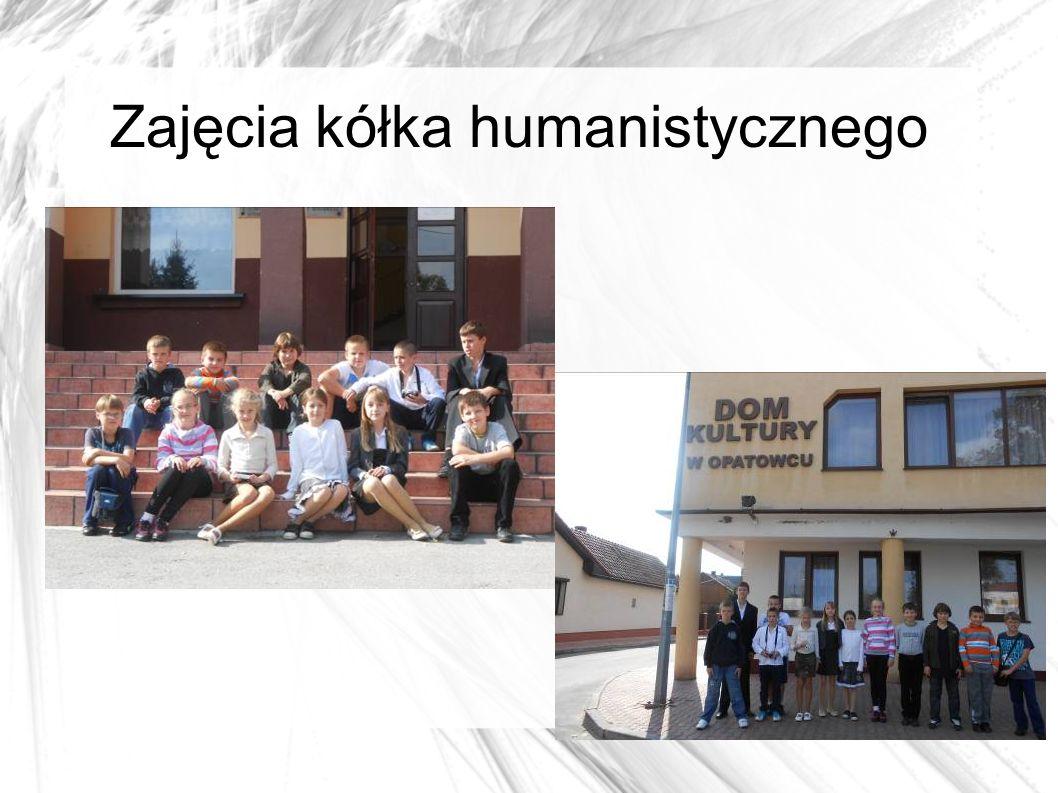 Zajęcia kółka humanistycznego