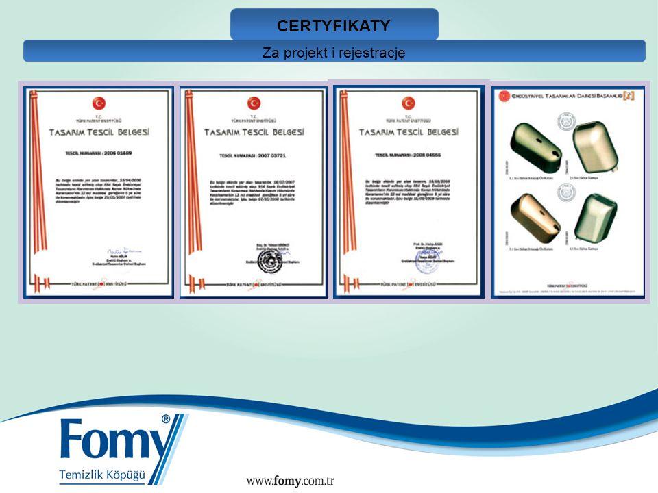 CERTYFIKATY Za projekt i rejestrację