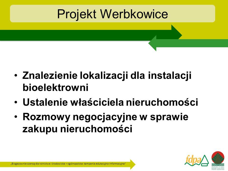 Biogazownie szansą dla rolnictwa i środowiska – ogólnopolska kampania edukacyjno-informacyjna Projekt Werbkowice są stosowane na glebach, na których nie są przekroczone wartości dopuszczalne stężenia substancji określonych w rozporządzeniu Ministra Środowiska z dnia 9 września 2002 r.