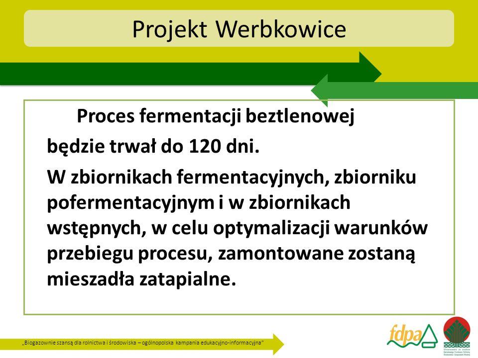 Biogazownie szansą dla rolnictwa i środowiska – ogólnopolska kampania edukacyjno-informacyjna Projekt Werbkowice Proces fermentacji beztlenowej będzie