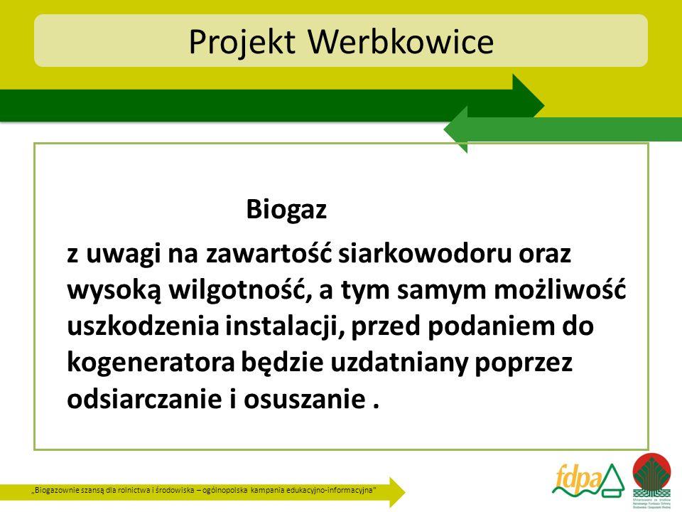 Biogazownie szansą dla rolnictwa i środowiska – ogólnopolska kampania edukacyjno-informacyjna Projekt Werbkowice Biogaz z uwagi na zawartość siarkowod