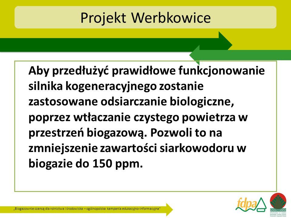 Biogazownie szansą dla rolnictwa i środowiska – ogólnopolska kampania edukacyjno-informacyjna Projekt Werbkowice Aby przedłużyć prawidłowe funkcjonowa