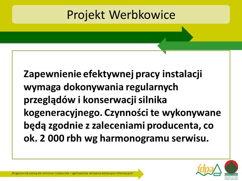 Biogazownie szansą dla rolnictwa i środowiska – ogólnopolska kampania edukacyjno-informacyjna Projekt Werbkowice Zapewnienie efektywnej pracy instalac