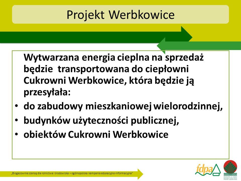 Biogazownie szansą dla rolnictwa i środowiska – ogólnopolska kampania edukacyjno-informacyjna Projekt Werbkowice Wytwarzana energia cieplna na sprzeda