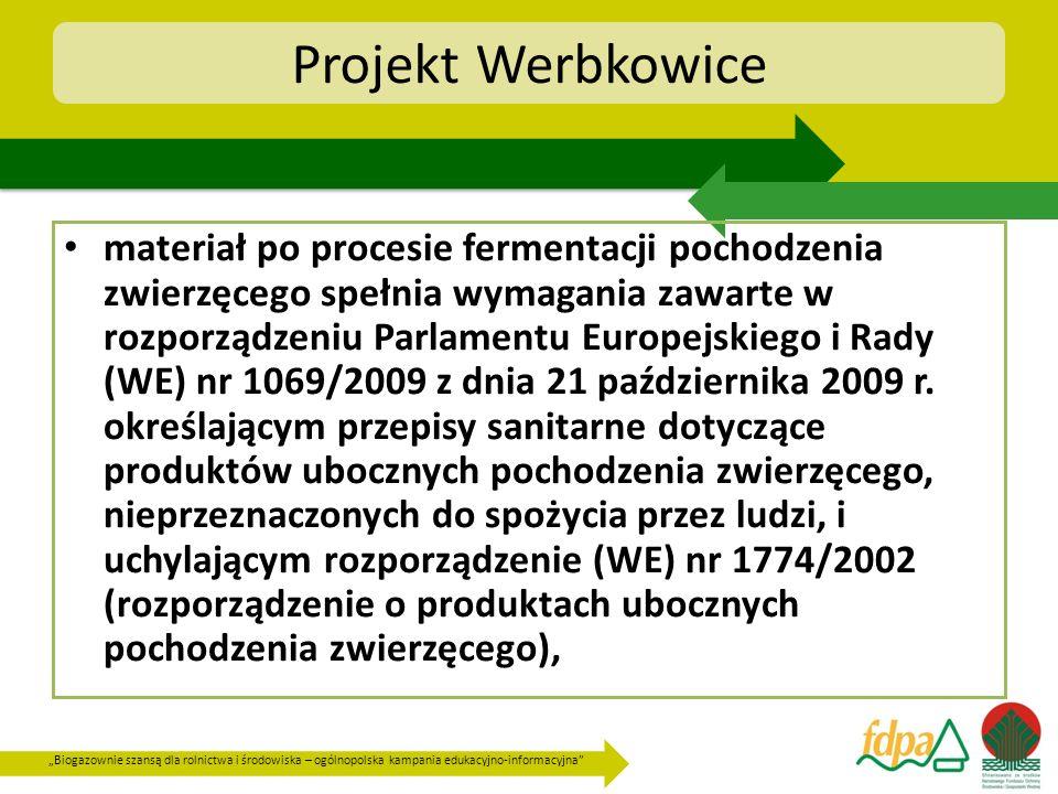 Biogazownie szansą dla rolnictwa i środowiska – ogólnopolska kampania edukacyjno-informacyjna Projekt Werbkowice materiał po procesie fermentacji poch