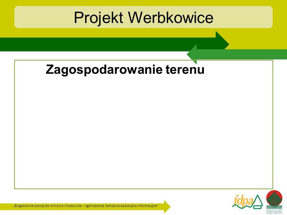 Biogazownie szansą dla rolnictwa i środowiska – ogólnopolska kampania edukacyjno-informacyjna Projekt Werbkowice Elementy infrastruktury 2 zbiorniki wstępne o pojemności ok.