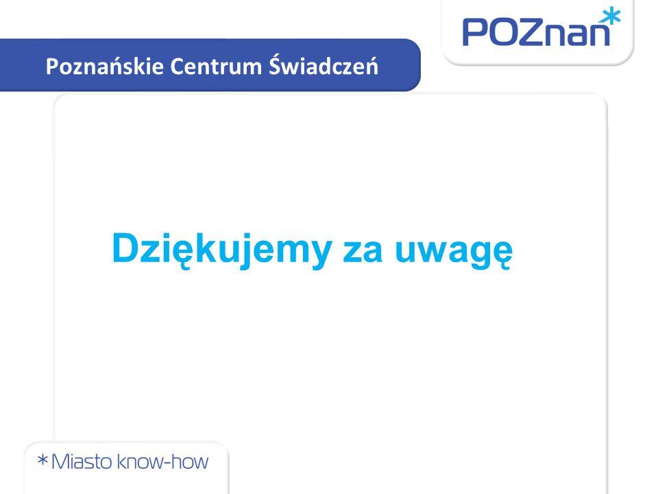 Poznańskie Centrum Świadczeń Dziękujemy za uwagę