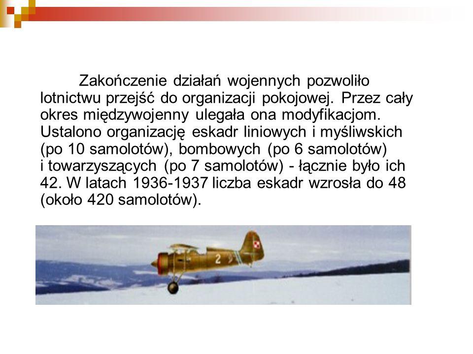 W okresie międzywojennym nastąpił rozwój polskiego przemysłu lotniczego, zanotowano wówczas wspaniałe osiągnięcia sportowe.