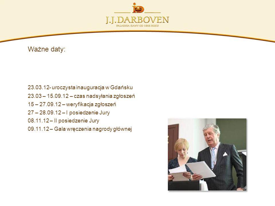 Ważne daty: 23.03.12- uroczysta inauguracja w Gdańsku 23.03 – 15.09.12 – czas nadsyłania zgłoszeń 15 – 27.09.12 – weryfikacja zgłoszeń 27 – 28.09.12 –