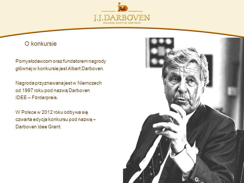 O konkursie Pomysłodawcom oraz fundatorem nagrody głównej w konkursie jest Albert Darboven. Nagroda przyznawana jest w Niemczech od 1997 roku pod nazw