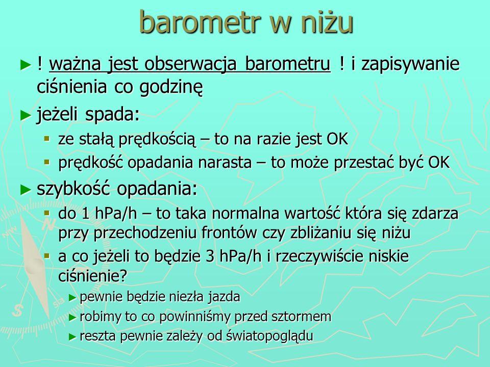 barometr w niżu ! ważna jest obserwacja barometru ! i zapisywanie ciśnienia co godzinę ! ważna jest obserwacja barometru ! i zapisywanie ciśnienia co