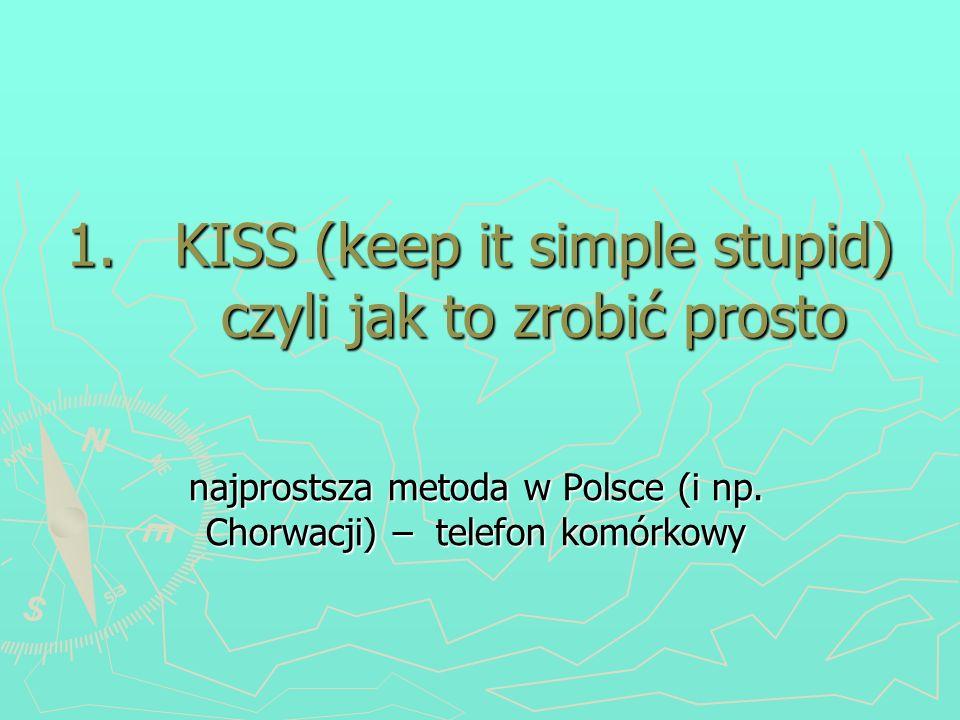 1.KISS (keep it simple stupid) czyli jak to zrobić prosto najprostsza metoda w Polsce (i np. Chorwacji) – telefon komórkowy