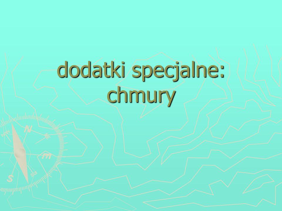 dodatki specjalne: chmury