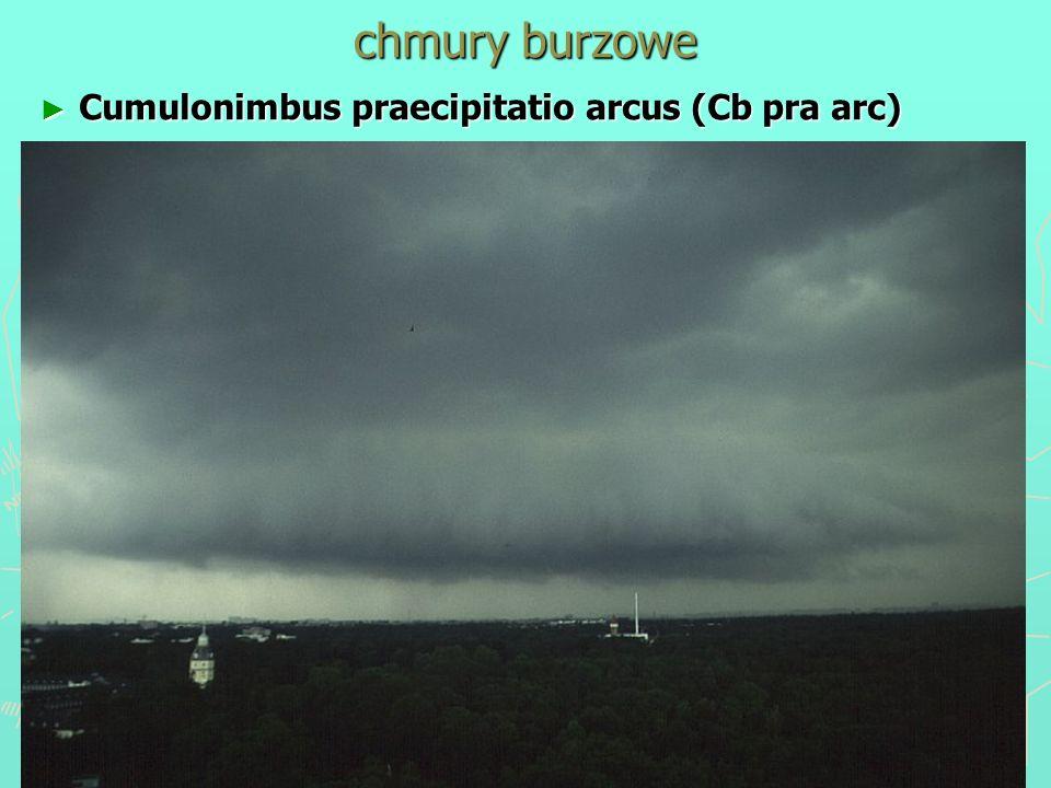 chmury burzowe Cumulonimbus praecipitatio arcus (Cb pra arc) Cumulonimbus praecipitatio arcus (Cb pra arc)