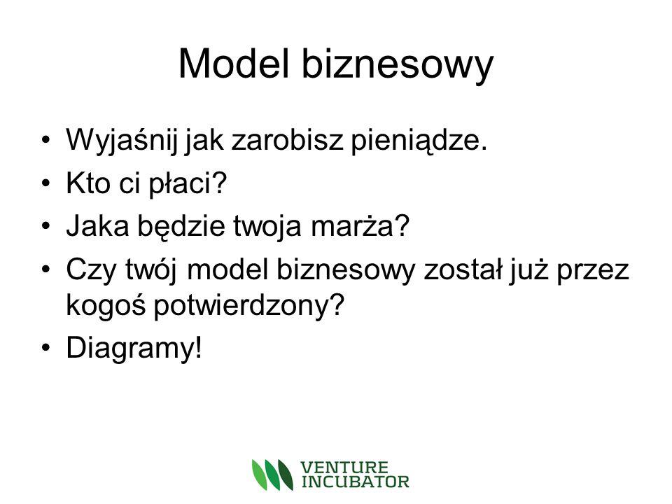 Model biznesowy Wyjaśnij jak zarobisz pieniądze. Kto ci płaci.