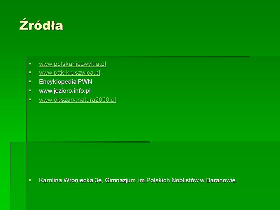 Źródła www.polskaniezwykla.pl www.polskaniezwykla.pl www.polskaniezwykla.pl www.pttk-kruszwica.pl www.pttk-kruszwica.pl www.pttk-kruszwica.pl Encyklop